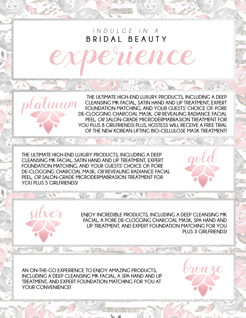 Beauty Experience Bridal Color Packages